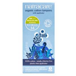 Natracare 16 Tampons normaux avec applicateur en coton bio Natracare