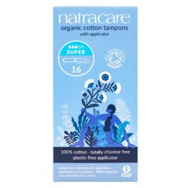 Natracare 16 Tampons super avec applicateur en coton bio Natracare