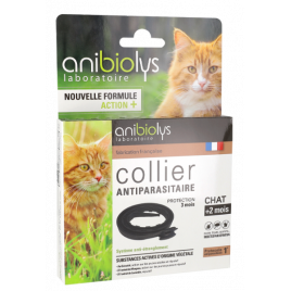 Anibiolys Collier antiparasitaire chat adulte 35cm Anibiolys