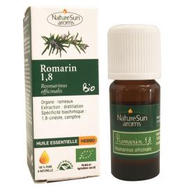 Huile essentielle Romarin bio 1,8 cinéole 10ml Naturesun' Aroms rosmarinus officinalis Onaturel