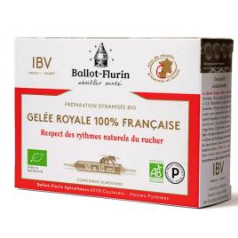 Ballot Flurin Gelée Royale française Préparation Dynamisée 10 ampoules de 10ml Ballot Flurin