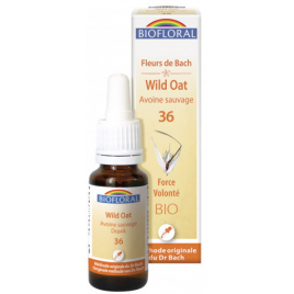 Biofloral Elixir Wild Oat n° 36 Avoine sauvage 20ml Biofloral Elixirs floraux - Dr Bach Onaturel.fr