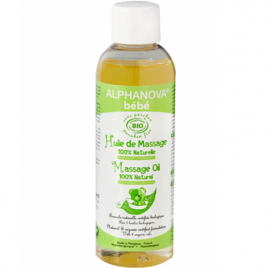 Alphanova Huile de massage amande douce macadamia 100ml Alphanova Massage bébé bio Onaturel.fr