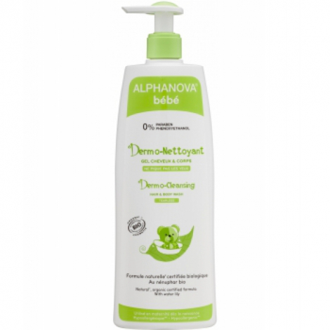 Alphanova Dermo nettoyant cheveux et corps nénuphar camomille 500ml Alphanova Soins / Hygiène bébé Onaturel.fr