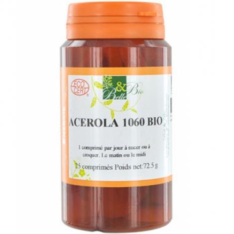 Belle et Bio Acérola Bio 25 comprimés 72.5g Belle et Bio Compléments Alimentaires Bio Onaturel.fr