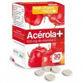 Nat et Form Acérola 500 Vitamine C 30 comprimés Nat et Form Forme et Vitalité Onaturel.fr