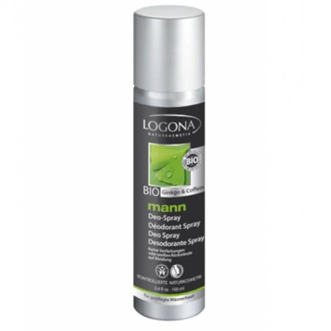 Déodorant spray Logona Mann 100 ml Logona Déodorant homme Bio Onaturel.fr