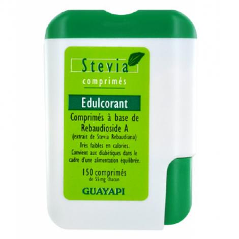 Guayapi Stevia Aliment à pouvoir sucrant distributeur de 150 comprimés Guayapi