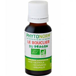Phytonorm Le bouclier du dragon 100% BIO Sans HE action préventive en gouttes 20ml Phytonorm Categorie temp Onaturel.fr