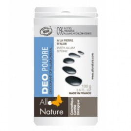 AlloNature Déo poudre à l'alun de Potassium bio 100g AlloNature Déodorants Bio Onaturel.fr
