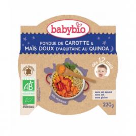 Babybio Mon Assiette Bonne Nuit Fondue de Carotte Maïs Doux et Quinoa dès 12 mois 230g