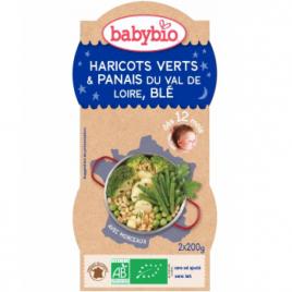 Babybio Bol Bonne Nuit Haricots verts et Panais du Val de Loire Blé 2x200g Babybio Assiettes / Bols bébé bio Onaturel.fr