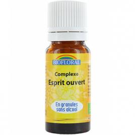 Biofloral Complexe floral n°8 Esprit ouvert en granules sans alcool 10g Biofloral Elixirs floraux - Dr Bach Onaturel.fr