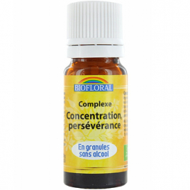 Biofloral Complexe floral n°13 Persévérance Concentration en granules sans alcool 10g Biofloral Elixirs floraux - Dr Bach Ona...