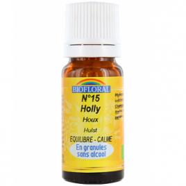 Biofloral Elixir Holly n°15 Houx en granules 10g Biofloral Elixirs floraux - Dr Bach Onaturel.fr