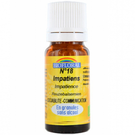 Biofloral Elixir Impatiens n°18 Impatience en granules 10g Biofloral Elixirs floraux - Dr Bach Onaturel.fr