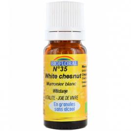 Biofloral Elixir White Chesnut n°35 Marronnier blanc en granules 10g Biofloral Elixirs floraux - Dr Bach Onaturel.fr