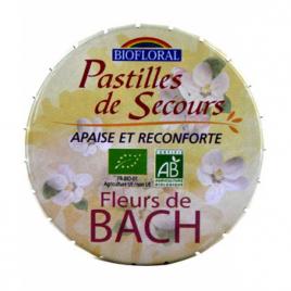 Biofloral Pastilles remède de secours sans alcool boite familiale 50g Biofloral Anti-stress/Sommeil Onaturel.fr