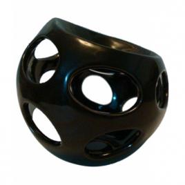 Zen Arôme Brûle Parfum céramique laquée noire ronde Zen Arôme Aromathérapie Bio Onaturel.fr