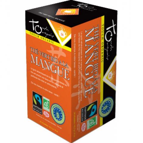 Touch Organic Thé vert BIO à la mangue 24 sachets 43g Touch Organic
