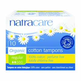 Natracare 10 Tampons normaux sans applicateur Natracare Hygiène Onaturel.fr