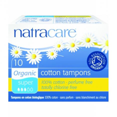 Natracare 10 Tampons super sans applicateur en coton bio Natracare Hygiène Onaturel.fr