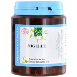 Belle et Bio Nigelle bio 200 capsules 136.6g Belle et Bio Immunité Onaturel.fr
