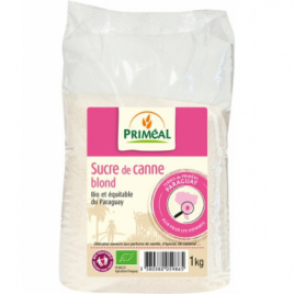 Primeal Sucre de canne blond origine Paraguay bio équitable poudre 1kg Primeal