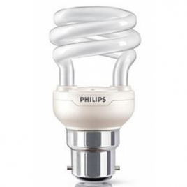 Philips Ampoule Eco. d'énergie 85% Mini Tornado 12W B22 blanc chaud X 1