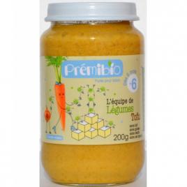 Prémibio Petit pot Légumes au Tofu dès 6 mois 200g Prémibio Accueil Onaturel.fr