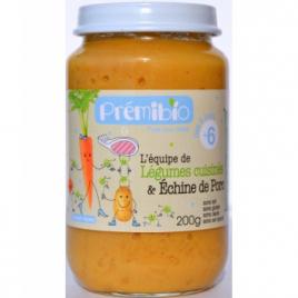 Prémibio Petit pot Légumes cuisinés échine de porc dès 6 mois 200g Prémibio Accueil Onaturel.fr