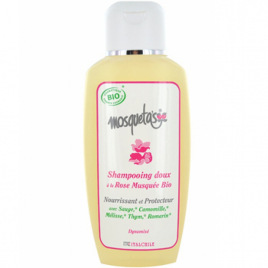 Mosqueta's Shampoing doux à la Rose Musquée nourrissant et protecteur 200ml Mosqueta's Hygiène Onaturel.fr