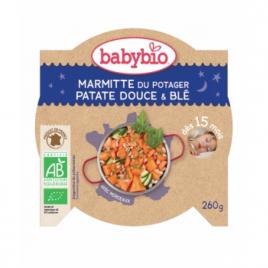 Babybio Menu Bonne Nuit Marmite du potager Patates douces Blé dès 15 mois 260g Babybio Petits pots Menu Nuit Bio Onaturel.fr