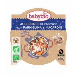 Babybio Menu Bonne Nuit Aubergines de Provence Parmigiana Macaronis dès 15 mois 260g Babybio Petits pots Menu Nuit Bio Onatur...
