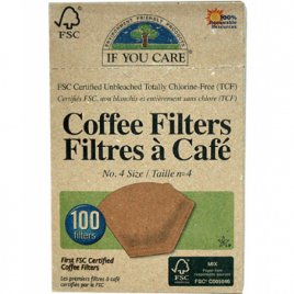 If You Care 100 Filtres à café non blanchi FSC n°4 If You Care Alimentation Bio Onaturel.fr