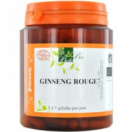 Belle et Bio Ginseng rouge bio 200 gélules 78g Belle et Bio Anti-stress/Sommeil Onaturel.fr