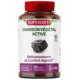 Super Diet Charbon Végétal Activé 150 gélules Super Diet Categorie temp Onaturel.fr