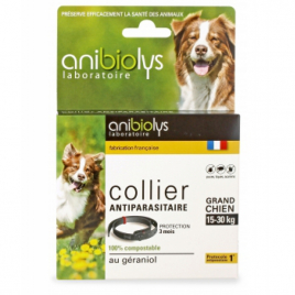 Anibiolys Collier antiparasitaire grand chien 15-30kg Anibiolys