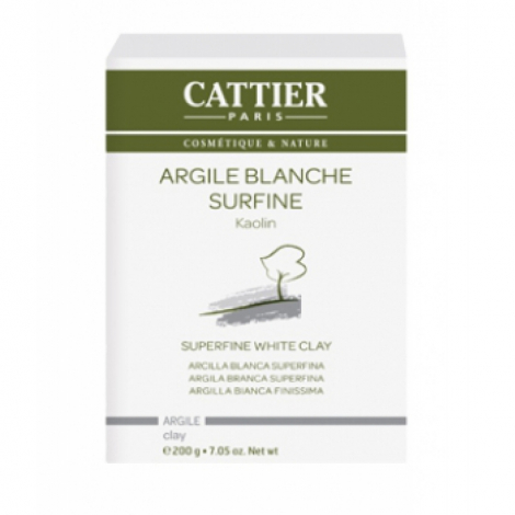 Cattier Argile Blanche Surfine Kaolin 200 g Cattier