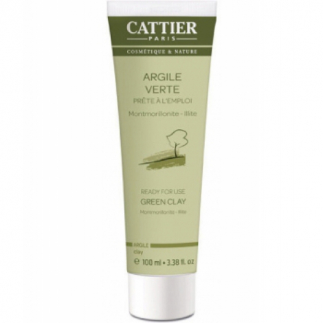 Cattier Argile verte Montmorillonite Prête à l'Emploi Tube Mini 100 ml Cattier