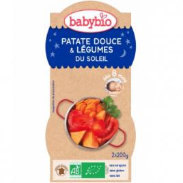Babybio Bol Bonne Nuit Patates Douces Légumes du Soleil Dès 8 mois 2 x 200g Babybio Petits pots Menu Nuit Bio Onaturel.fr