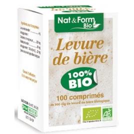 Nat et Form Levure de bière bio 100 comprimés