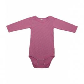 Popolini Body manches longues rayé rose et gris 3 à 6 mois 62 68 Popolini Categorie temp Onaturel.fr