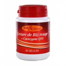 Nat et Form Levure de Riz rouge + coenzyme Q10 60 gélules Nat et Form Circulation Onaturel.fr
