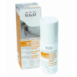 Eco Cosmetics Gel Solaire Visage indice 30 peaux sensibles   30ml