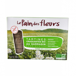 Le Pain Des Fleurs Tartines craquantes au Sarrasin 300g Le Pain Des Fleurs Galettes / Biscottes Bio Onaturel.fr
