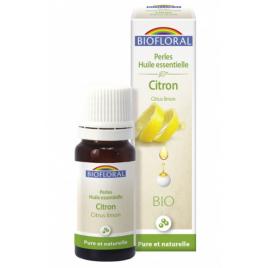 Biofloral Perles d'huile essentielle de Citron 20ml Biofloral Digestion Onaturel.fr