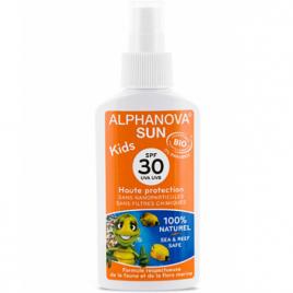 Alphanova Lait solaire SPF 30 Kids haute protection Parfum Vanille Abricot + de 3 ans 125ml Alphanova Soins solaires Bio Onat...