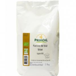 Primeal Farine bise de blé Borsa type 80 1kg Primeal Farines Bio Onaturel.fr