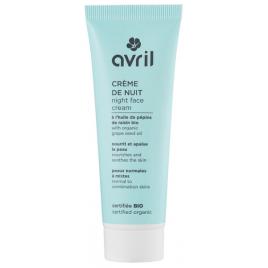 Avril Beauté Crème de nuit peau normale et mixte huile de Pépins de Raisin 50 ml Avril Beauté